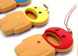 Eating Phone Strap color rojo, azul, amarillo