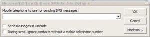 microsoft outlook sms add in