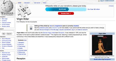 ISPs británicos bloquean accesos a la Wikipedia