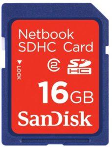 sandisk netbook sdhc card