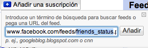 añadir feed status