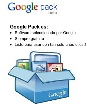 Google Pack log