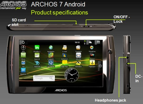 archos4 android 2
