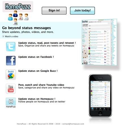 HomePuzz, una página de inicio con capacidades sociales