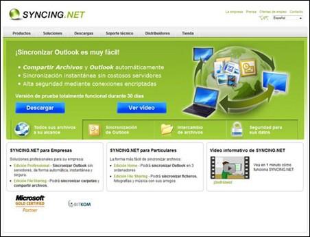 syncing net compartir archivos datos outlook