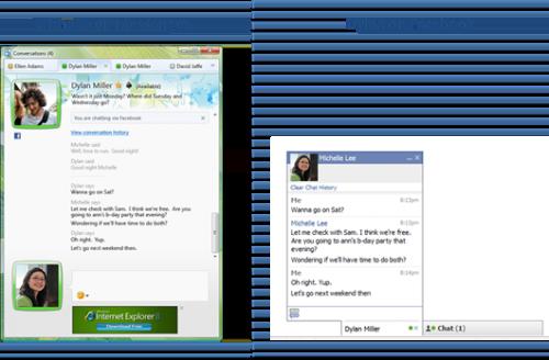 Windows Live Messenger Facebook