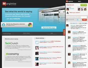 Marginzine, herramienta social para criticar sitios Web