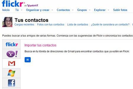 incubaweb buscar contactos flickr mail facebook
