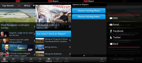 gsmarena 001 CNN App for Symbian^3 brings you the latest news but can also make you a journalist