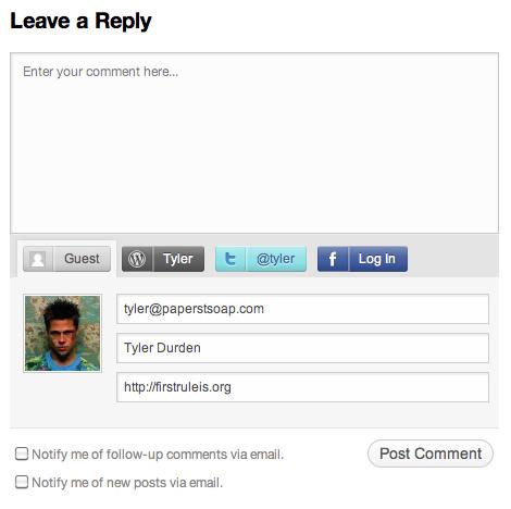 Wordpress.com ya permite comentar logueándote con tu cuenta de Facebook y Twitter