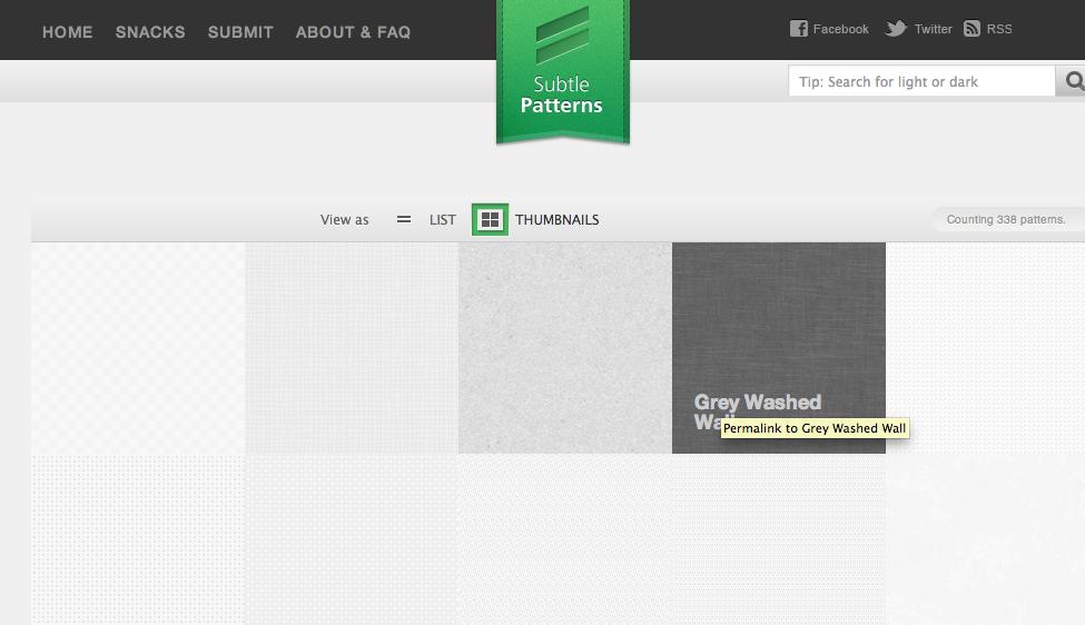 Descargar texturas y patrones para diseño web con Subtlepatterns