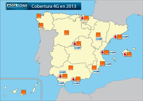 Mapa De Cobertura Yoigo.Mapa De Cobertura 4g Para Espana En 2013 Incubaweb