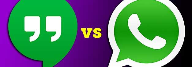 Google Hangouts vs WhatsApp