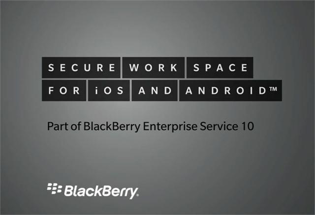 Secure Work BlackBerry
