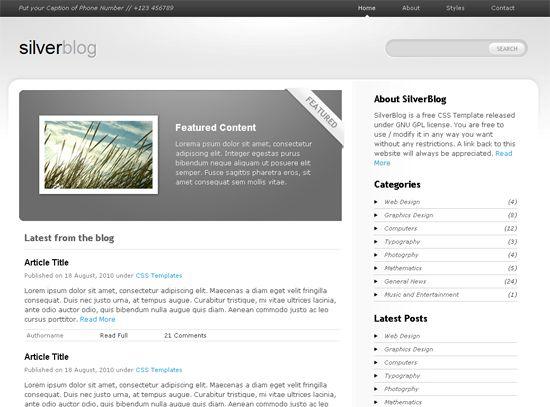 plantillas-gratis-html5-Silver-blog