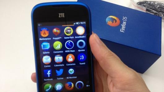 smartphone zte open con firefox