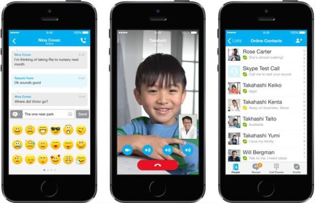 Skype iOS 7