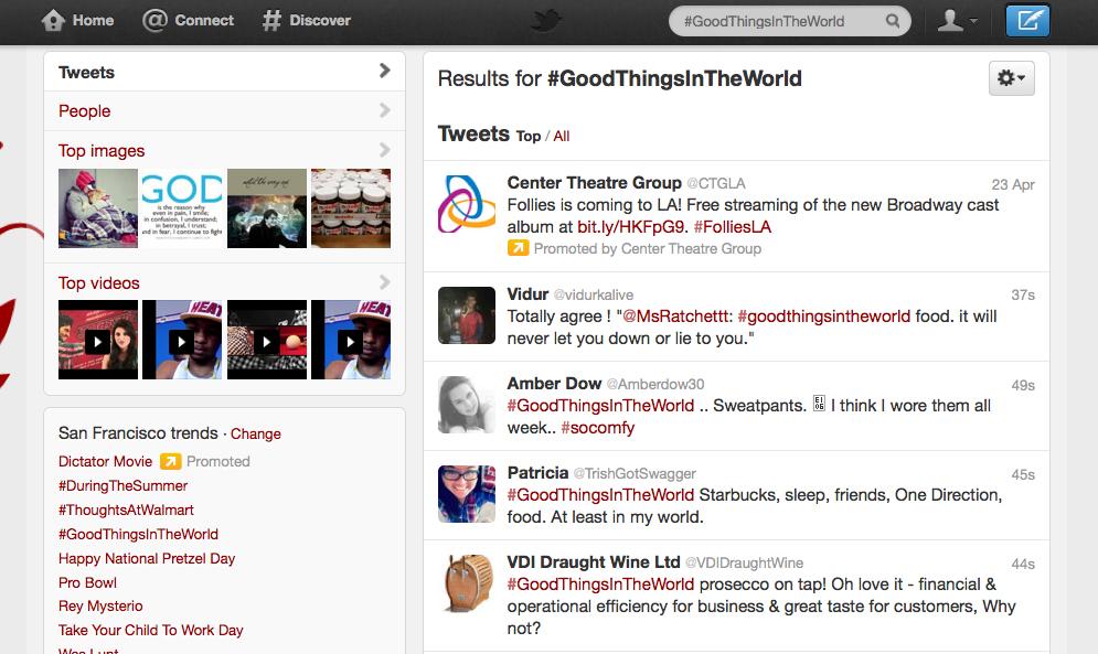Twitter hashtags 2
