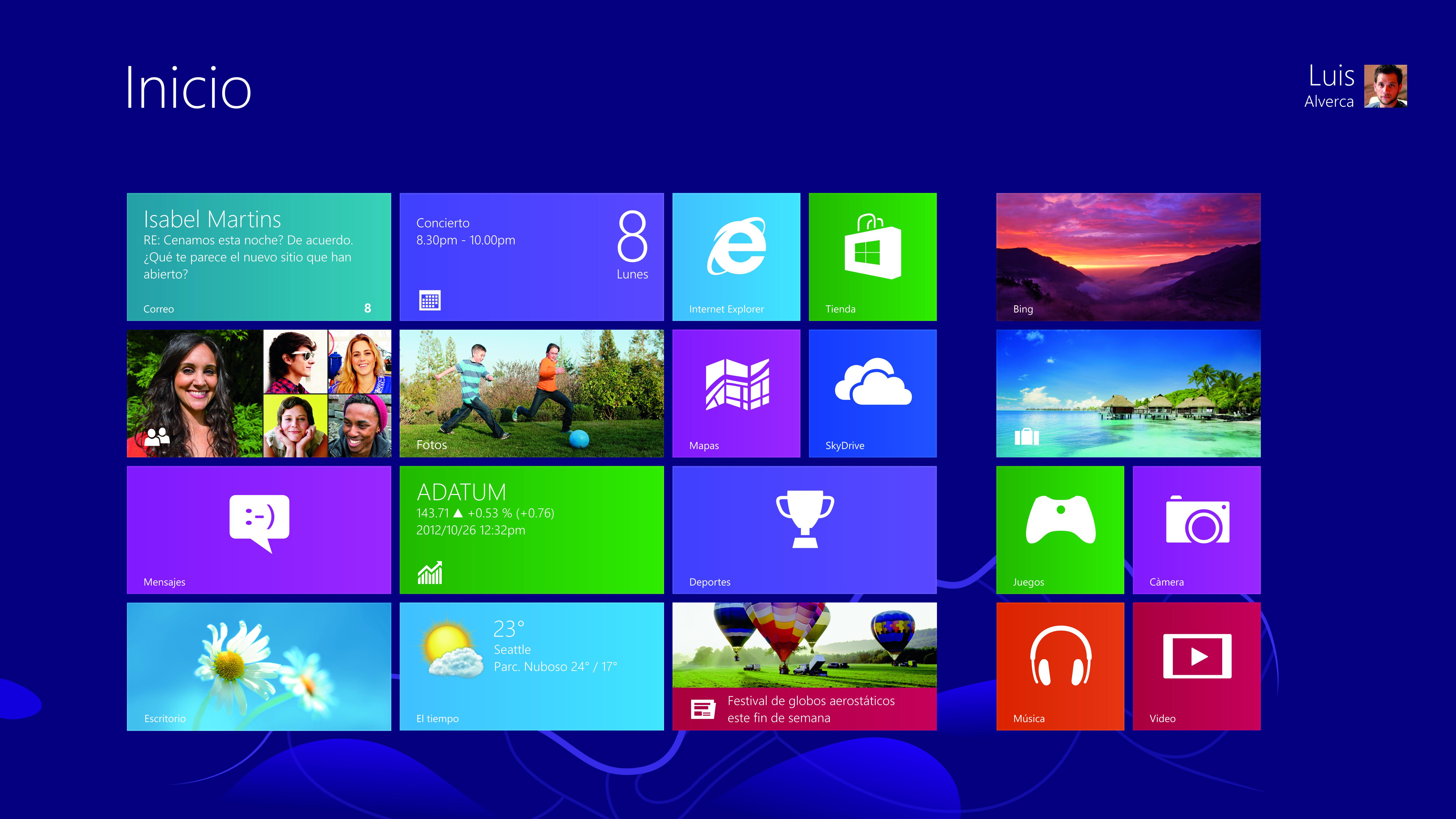 Cambios en la interfaz de windows 8