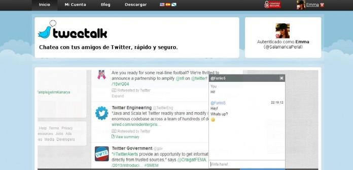 Tweetalk el chat para Twitter