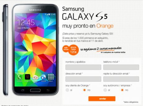 Samsung Galaxy S5 Orange 1