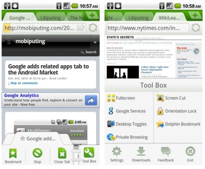 Dolphin Browser Android 2