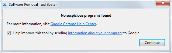 software removal tool chrome