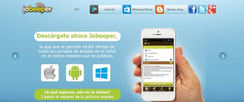 Encontrar empleo con Jobeeper