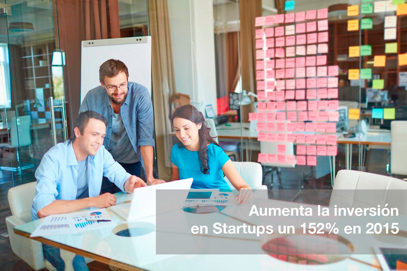 Aumenta la inversión en Startups un 152 por ciento en 2015