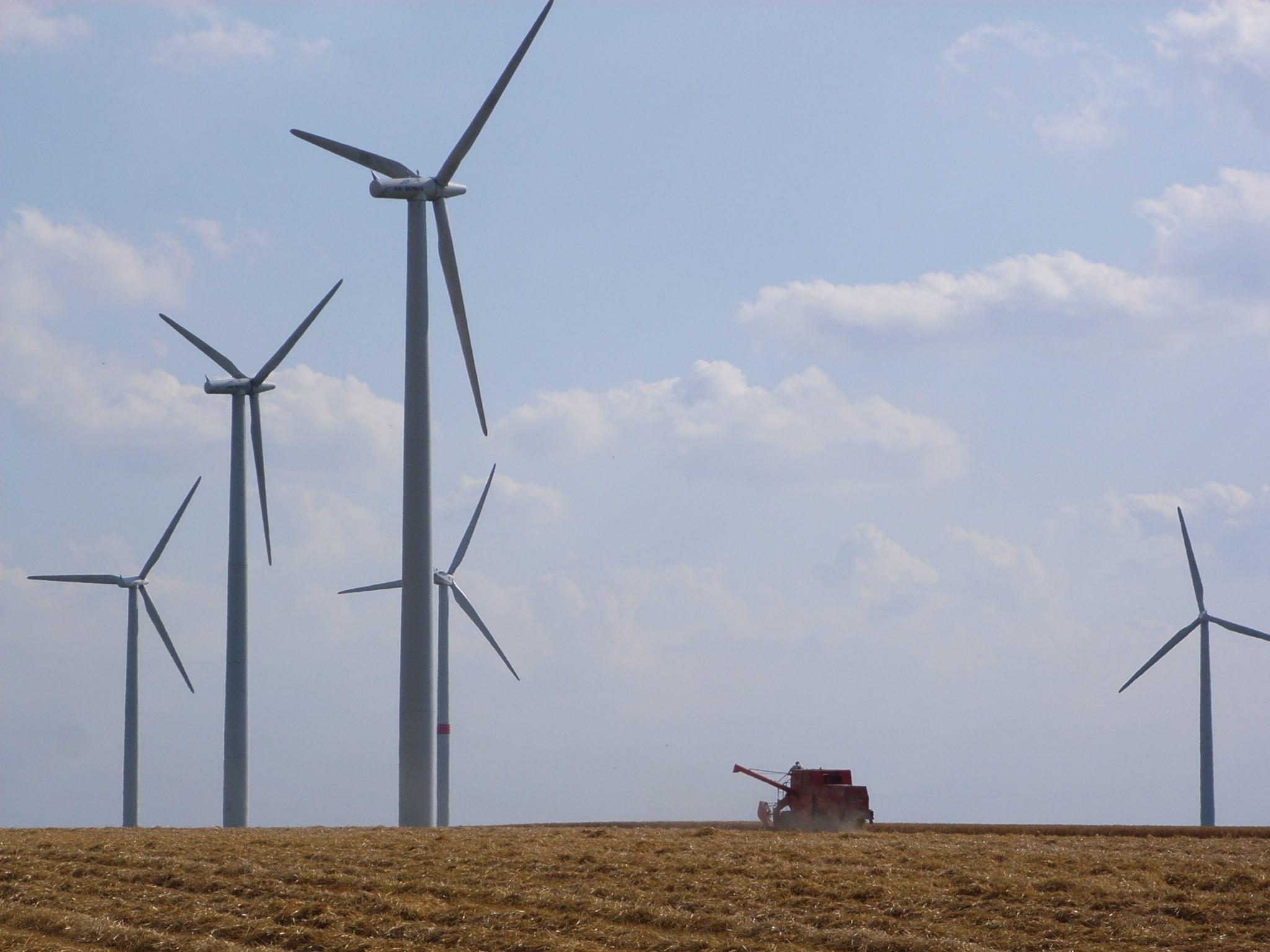 molinos de viento energía eólica
