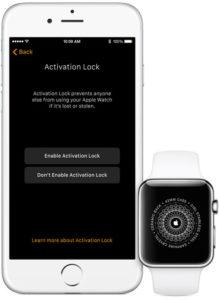 bloqueo de activacion en el apple watch