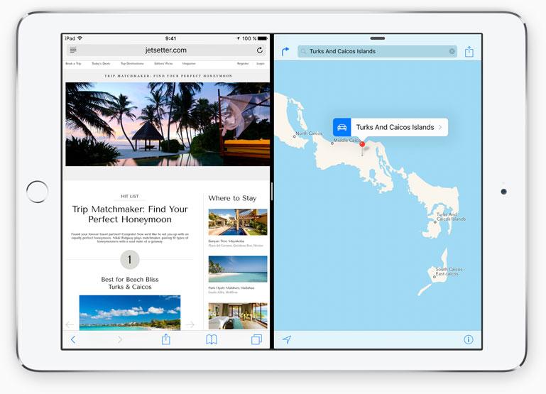 version iOS 9 permite partir la ventana del iPad en dos