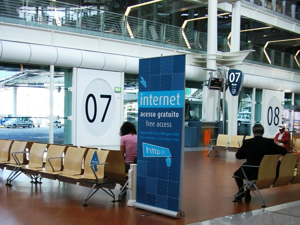 Redes wifi públicas en los aeropuertos