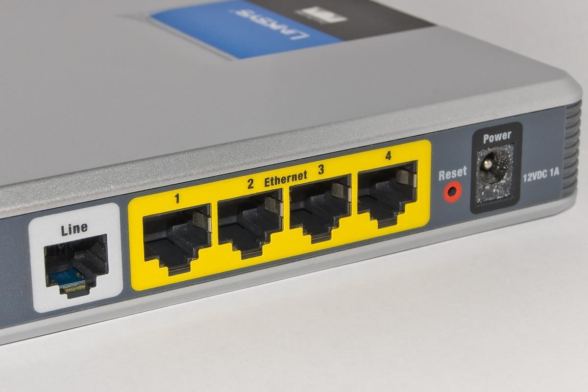 Conexión ADSL modelo del router