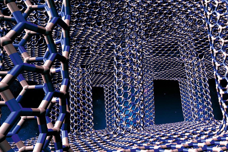 estructura 3d del grafeno blanco