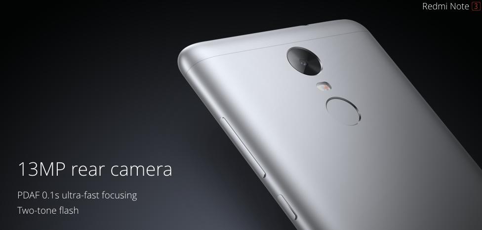 xiaomi Redmi Note 3 - cámara de 13 megapíxeles