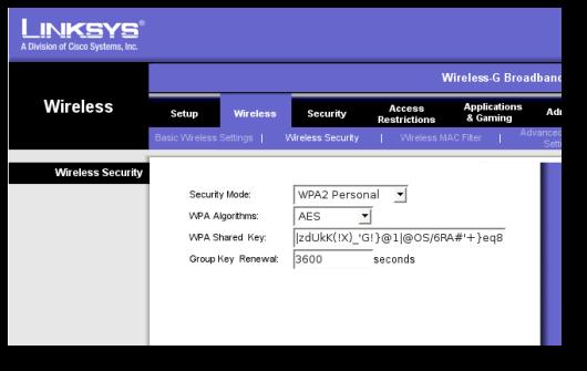 mejorar la seguridad de nuestra conexión WiFi - protocolo wpa2