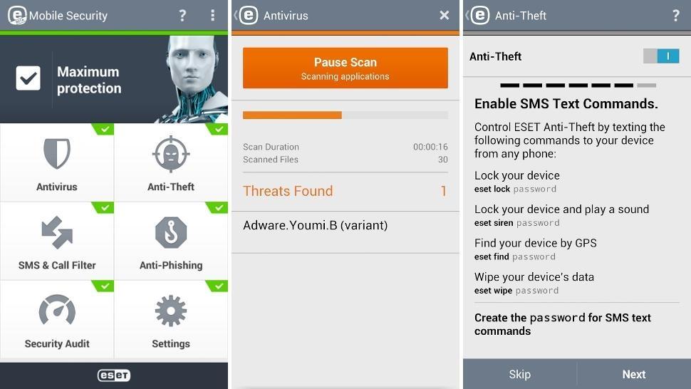 Antivirus para Android - Esset Mobile Security