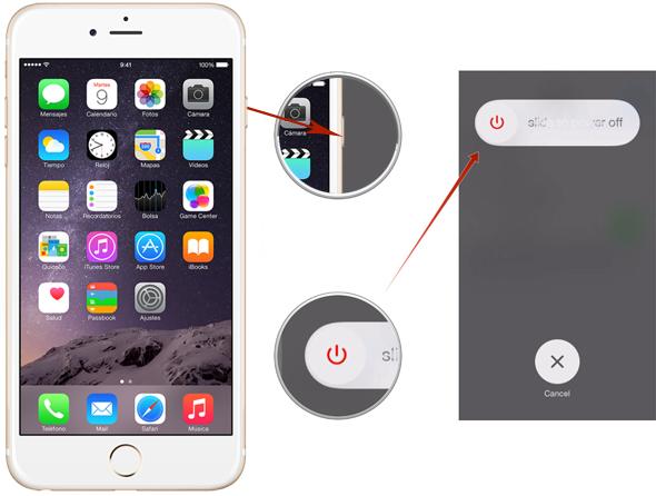 mejorar el rendimiento de tu iPhone - reinicio rapido