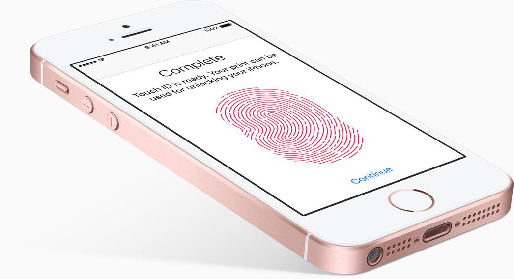 iphone se detector de huella
