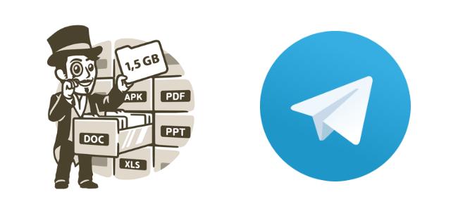 aplicación Telegram - archivos grandes