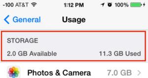 liberar espacio de tu iphone espacio disponible
