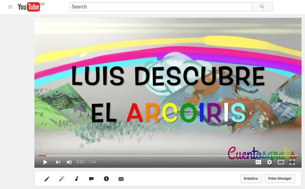 Vídeo luis descubre el arcoiris en cuentos gratis