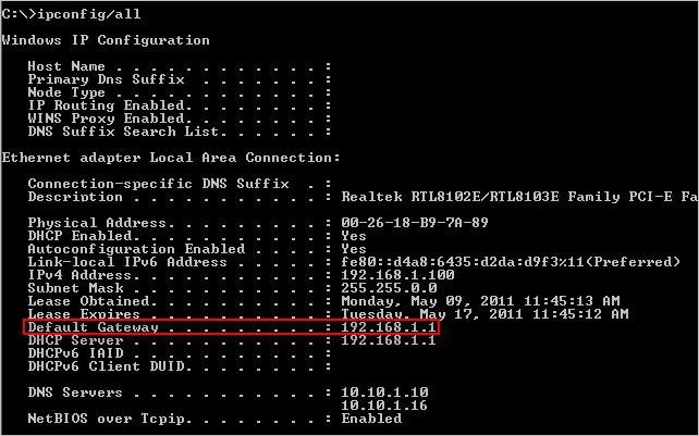 configurar router nuevo - puerta de enlace