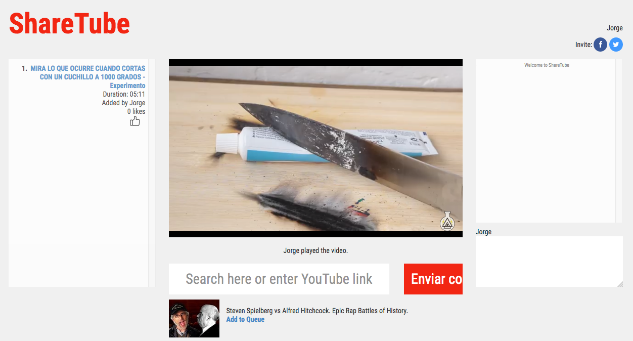 ShareTube para ver vídeos de YouTube