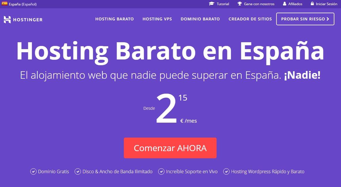 hostinger espana