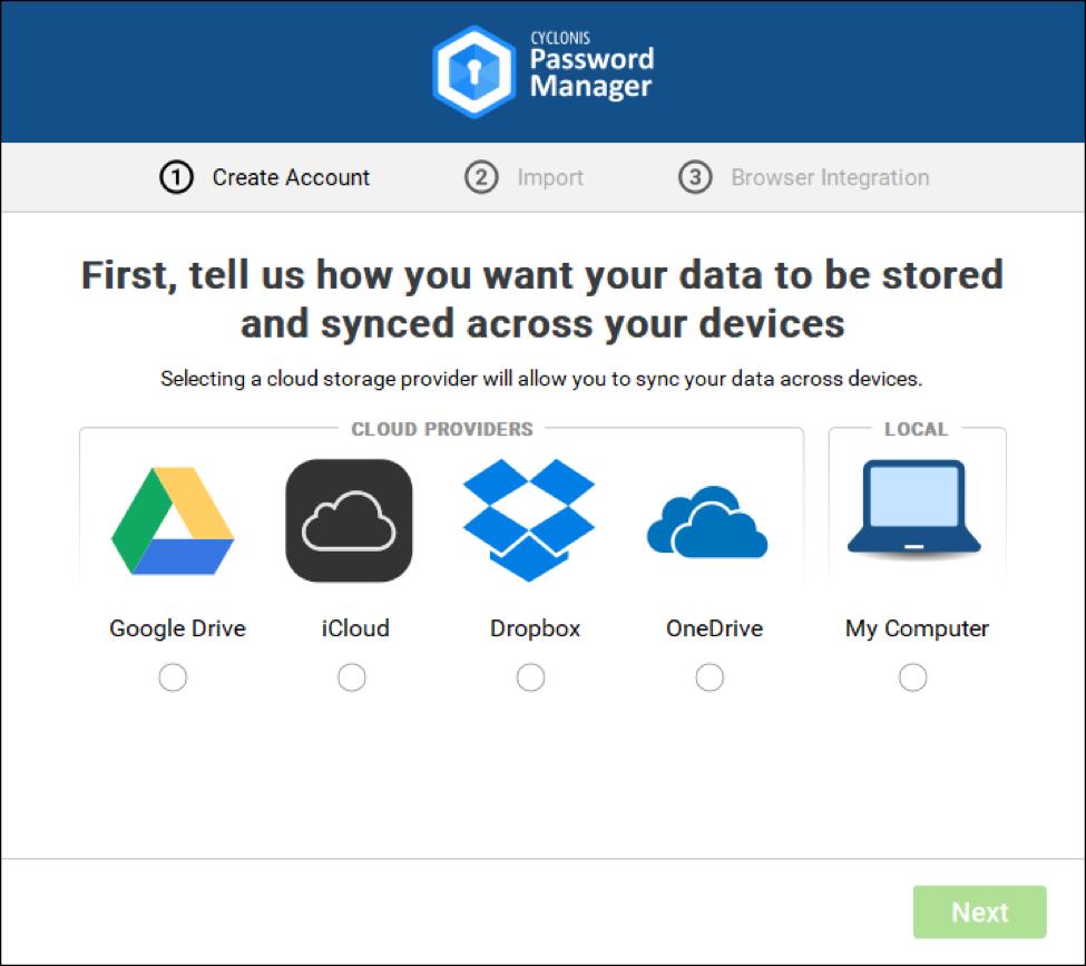 2 windows select cloud storage