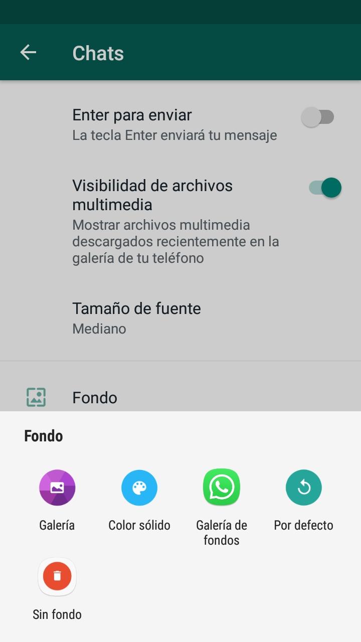 color solido whatsapp